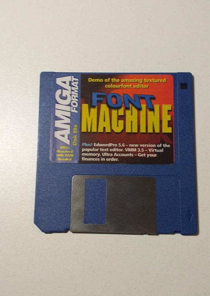 Joc AMIGA  Font Machine - DEMO - G