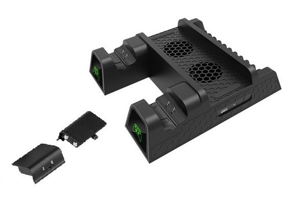 Stand Vertical Xbox One Fat / S / X - cooler, usb, acumulatori - 60104