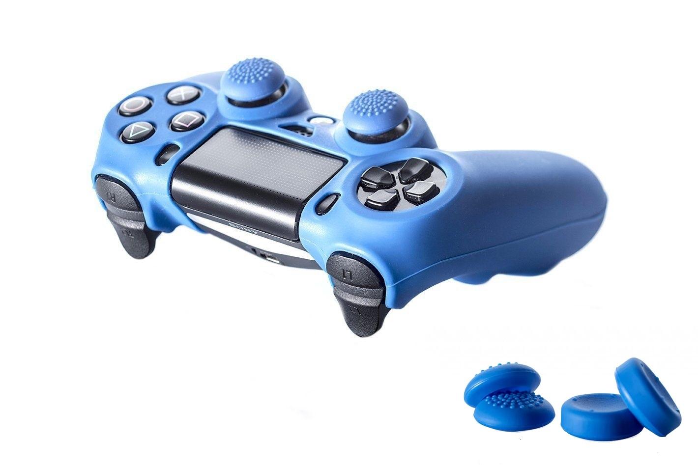 Set Husa silicon + 4 Thumb grips pentru controller PS4 - 60469